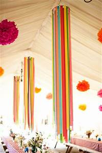 Streamer Chandeliers - 8 Fabulous DIY Party Decoration