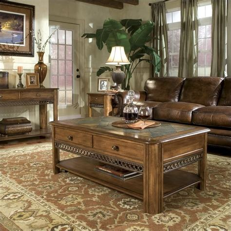 Magnussen Madison 3 Piece Cocktail Table Set In Warm