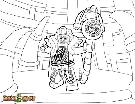 Lego Ninjago Coloring Page, Lego Lego Ninjago Master Chen