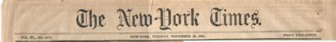 New York Times, November 19, 1861