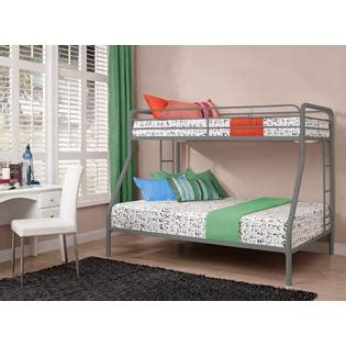 dorel twin over full bunk bed silver