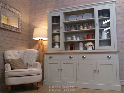 hand  solid pine painted welsh dresser farmhouse furnishings