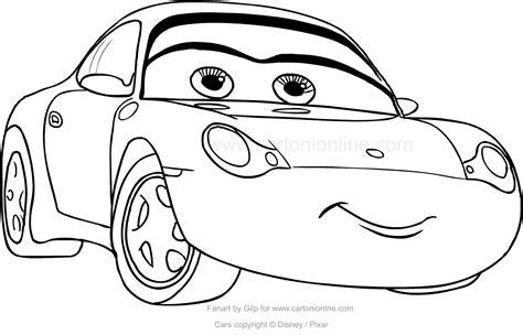 disegni da colorare di cars saetta disegno di sally di cars da colorare