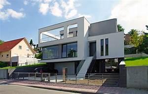 Luxus Bungalow Bauen : architektur haus haus am hang bauhausstil haus aus ~ Lizthompson.info Haus und Dekorationen