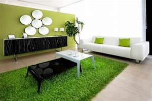 Gemütliche Wohnzimmer Farben : frische farben im wohnzimmer 20 ideen in gr n und wei ~ Markanthonyermac.com Haus und Dekorationen