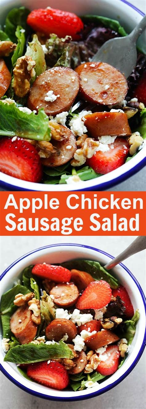 How to cook the chicken apple sausage recipe: Apple Chicken Sausage Salad | Easy Delicious Recipes