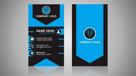 vertical business card design coreldraw tutorial youtube