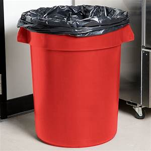 Continental, 3200rd, 32, Gallon, Red, Trash, Can