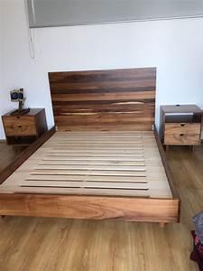 Base de cama y cabecera de madera de huanacastle Bases de Cama Pinterest Bedrooms