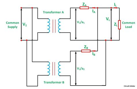 Single Phase Transformer Wiring Connection by Parallel Operation Of A Single Phase Transformer Circuit