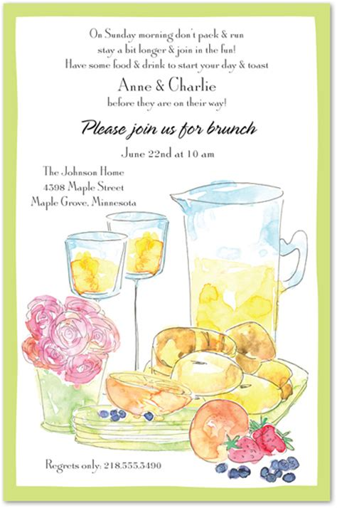 brunch invitation template brunch food clipart clipground