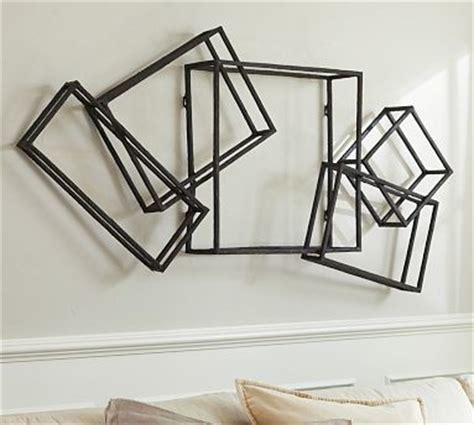 composed cube metal wall art 30 x 60 quot traditional