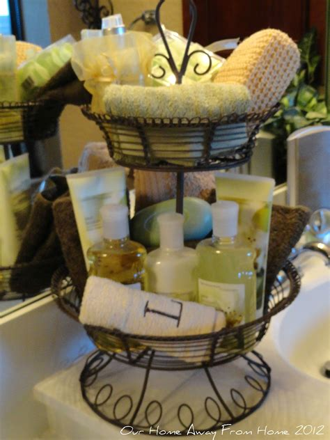 bathroom basket ideas our home away from home tiered basket in the bathroom and