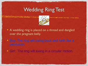 Gold new wedding rings baby gender prediction wedding for Wedding ring gender test