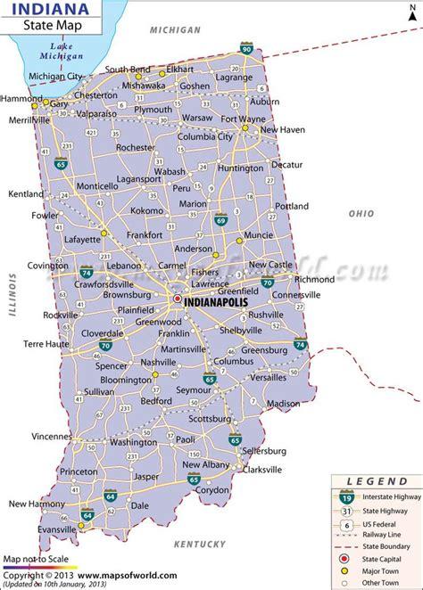 map  indiana maps  indiana pinterest