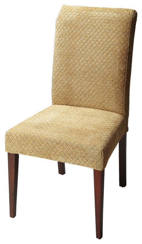parsons chair beige fabric contemporary dining