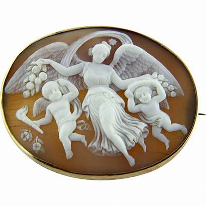 Goddess Cameo Flying Victorian Shell Dawn Extra