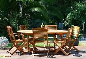 Mobilier Jardin Bois : salon de jardin en bois robinier 6 places salisburgo givex ~ Premium-room.com Idées de Décoration