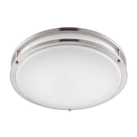 low profile led ceiling light envirolite 16 in brushed nickel white low profile led