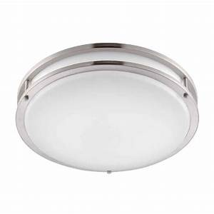 Envirolite in brushed nickel white low profile led