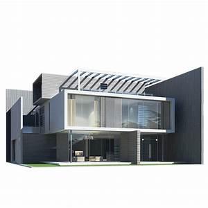 Modern House 3D Model MAX OBJ 3DS FBX | CGTrader.com