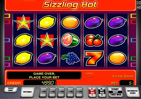 Play Sizzling Hot Free Slot  Novomatic Casino Slots Online