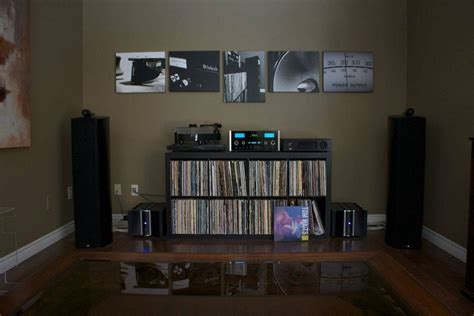 beauty   home  listening room  pinterest audio room speakers   rooms
