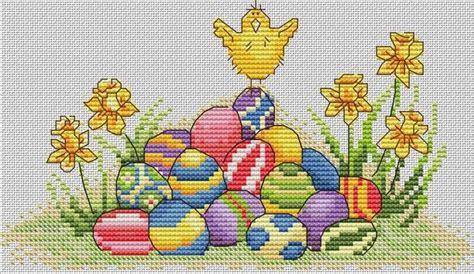 cross stitch pattern  world happy easter