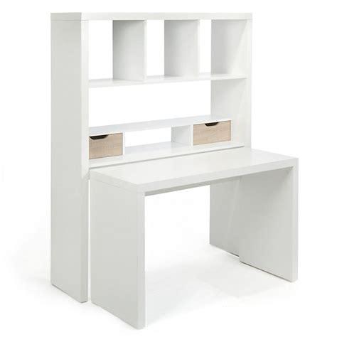 bureau fr bureau modulable blanc avec étagères et tiroirs twisty