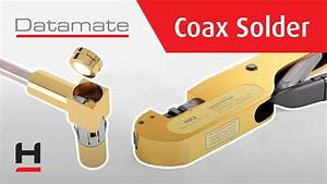 Datamate Coax Solder Contact - Assembly Instructions