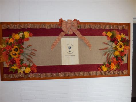 fall foliage bulletin board  church christian