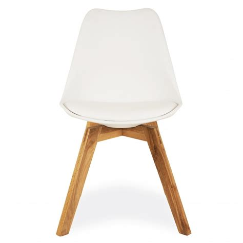 style white dining chair crossed oak wood legs