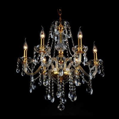 strands for chandeliers 21 6 quot wide shimmery six lights clear beaded strands
