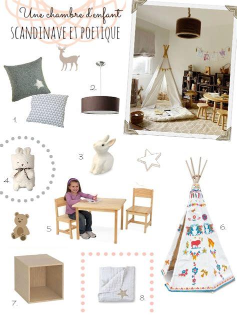 chambre style indien déco scandinave et poetique pour une chambre d enfant