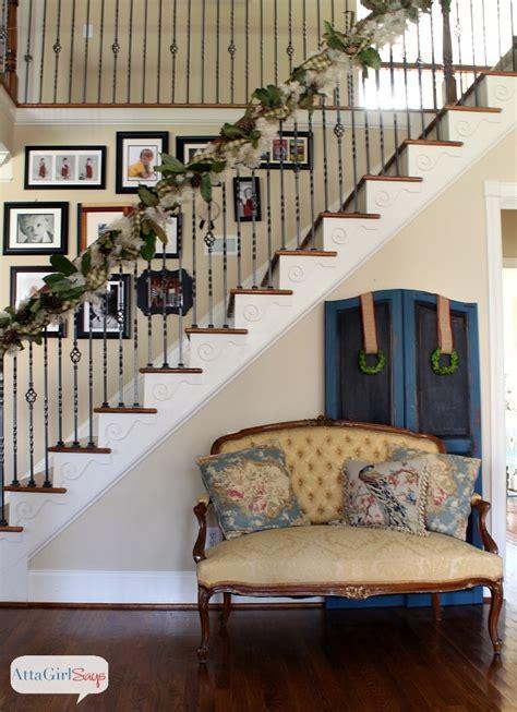 handmade magnolia gilded pinecone christmas garland