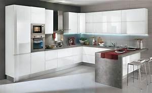 Küche U Form Mit Theke : k chen u form das perfekte kombiniert von form funktion ~ Michelbontemps.com Haus und Dekorationen