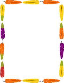Native American Feather Border Clip Art