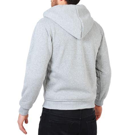 plain hooded zipper hoodie crew neck sweat shirt top