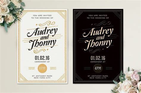 50 Wonderful Wedding Invitation & Card Design Samples