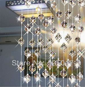 Crystal bead curtain for partition entranceway home