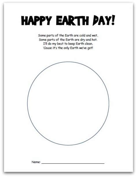 earth day crafts printable project and poem somewhat 174 | earth day printable