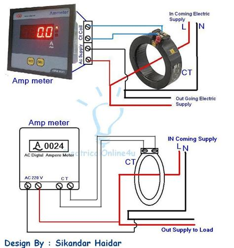Digital Ammeter Wiring With Current Transformer Coil