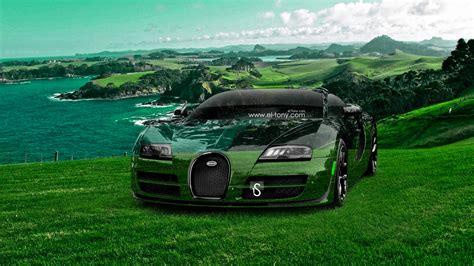 Bugatti Veyron Crystal Nature Sea Front Car 2014