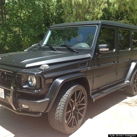 mercedes benz jeep matte black interior kylie jenner takes her 125 000 mercedes benz suv for 39 a