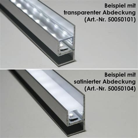 aluminium profil blende fue led stripes eloxiert