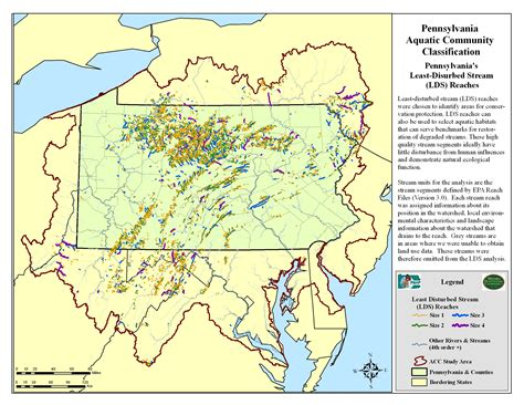 Pa Fish And Boat Commission Interactive Map by Pnhp Aquatic Classification Project Least Disturbed