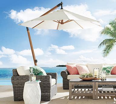 premium sunbrella wooden cantilever umbrella solid