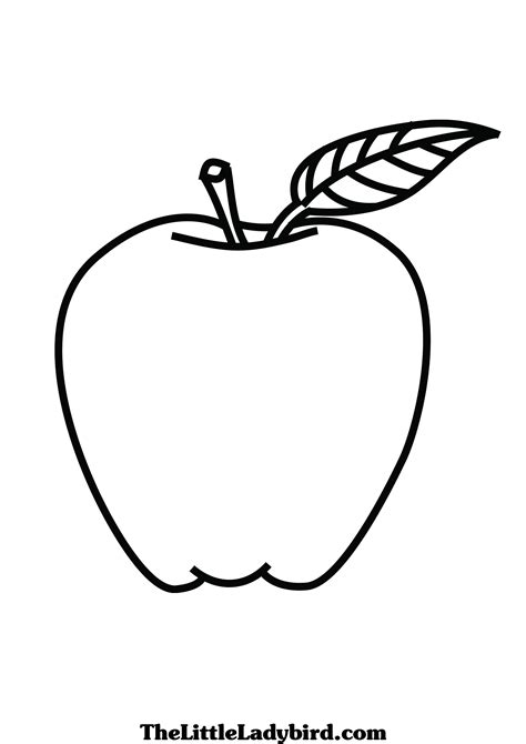 coloring pages  apples  printable apple