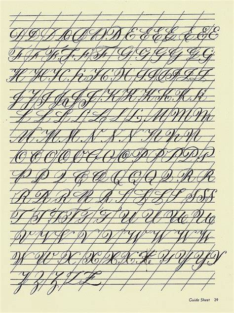 copperplate practice sheet 4 via flickr calligraphy