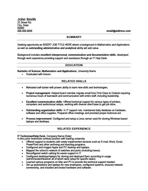 it technician resume template premium resume sles